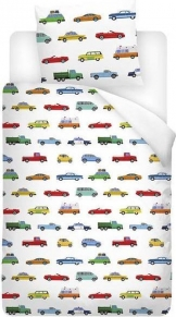 Snoozing Cars Junior dekbedovertrek peuter