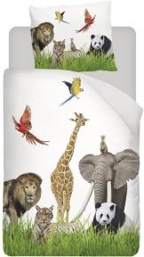 Snoozing Zie Zoo - Flanel